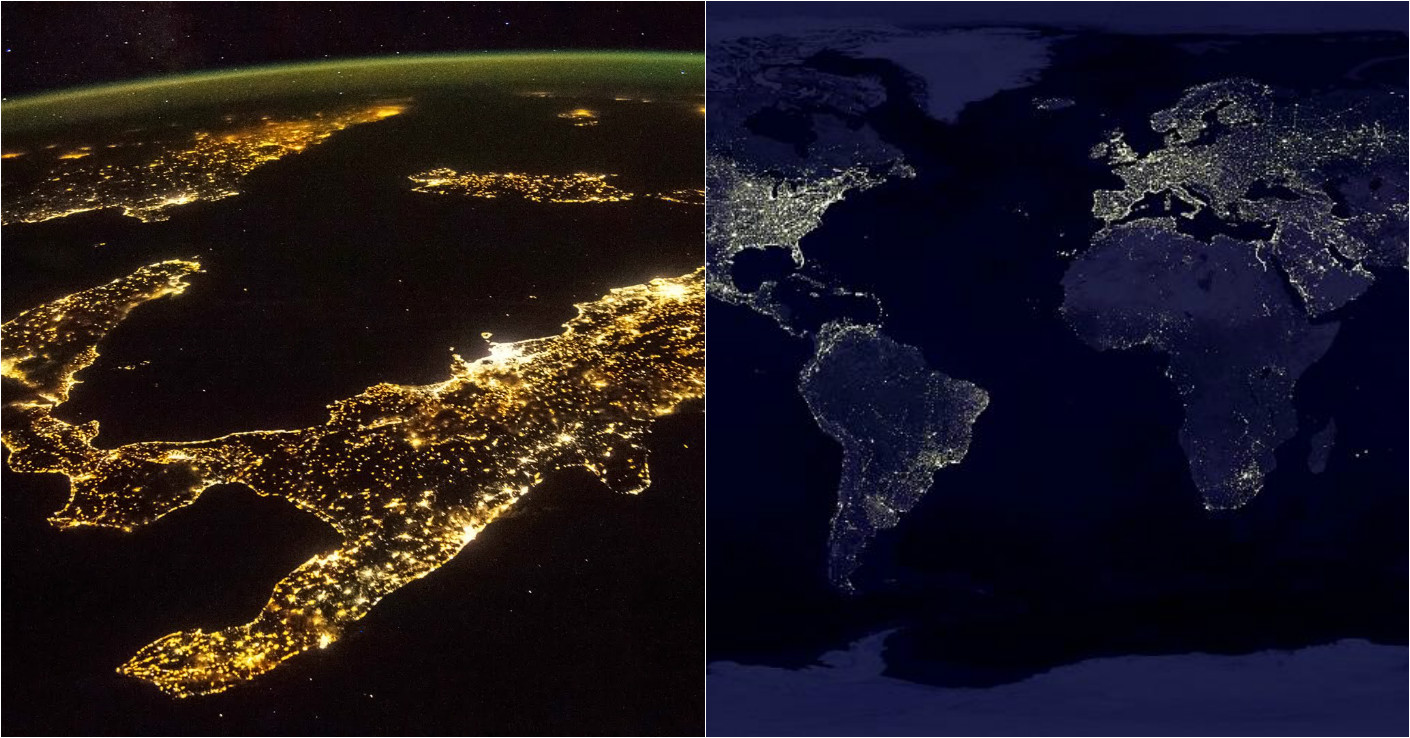 NASA releases new clearest ever global maps of Earth at night Night